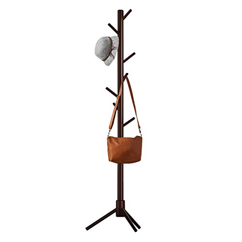 FADDA Rustic Wood Coat Rack,  Free-Standing Coat Rack Tree...
