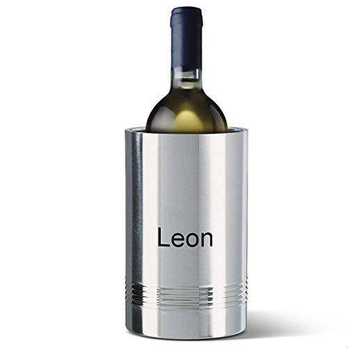 Sterngraf emsa Senator Flaschenkühler MIT Gravur (z.B. Namen) Sektkühler Weinkühler Edelstahl
