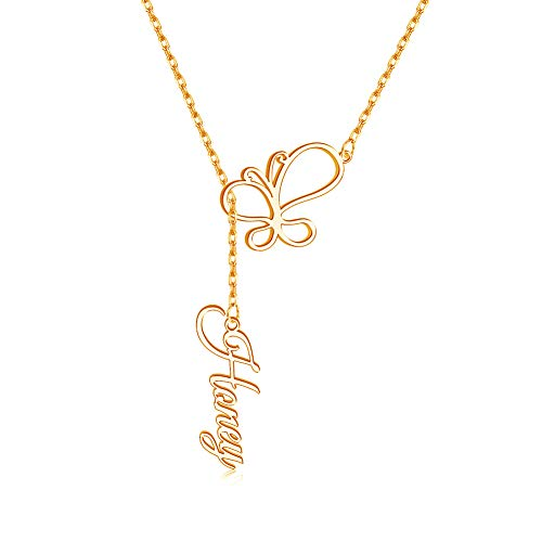 (50% OFF Coupon) Personalized Butterfly Necklace $9.50
