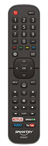 Smartby Remote Control EN2A27 for Hisense 55H6B 50H7GB 50CU6000 50H5C 50H6C 50H7C 50H7GB1 50H8C 55H5C 55H6B 55H7B 55H7C 55H8C 55H9B2 65CU6200 65H10B 40H5C 43H5C 43H7C
