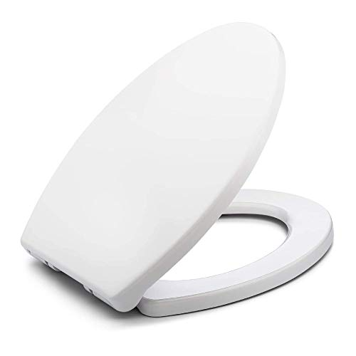 Toilet Seat Elongated BATH ROYALE BR237-00 White MasterSuite Elongated Toilet Seat Slow Close, Replacement Toilet Seat Fits All Toilet Brands including Kohler, Toto and American Standard