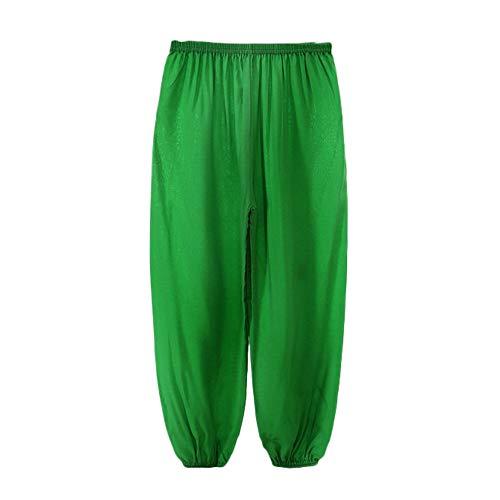 beautyjourney Pantalones Harem Holgados de niños niñas, Disfraz de Danza del Color sólido Pololos Pantalones Deportivos de Yoga Pantalones Harem Pantalones Casuales