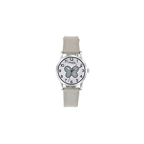 Little Miss Lovely - Little Miss Lovely Armbanduhr mit weißem Glitzerarmband - für Mädchen - Weiß