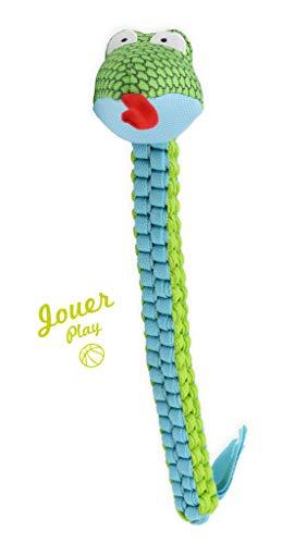 Aime - Squeaker sonoro Integrato, Giocattolo per Cane, Forma a Serpente Wheelies, Diametro 50 cm