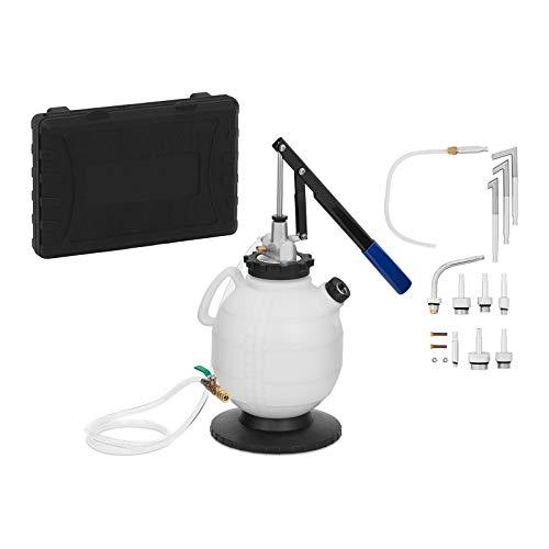 MSW Pompa per Sostituzione Olio Cambio Automatico Pompa Cambio Olio MSW-AGP-01 (7,5 L, 13 adattatori, SAE 140)