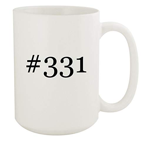 #331-15oz Hashtag White Ceramic Coffee Mug