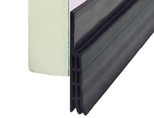 """VITAM AMO Door Sweep, Door Draft Stopper, Weather Stripping No Tools Required 2"""" Width x 39"""" Length Easy Cut to Size (Seal Door Bottom-Black)"""