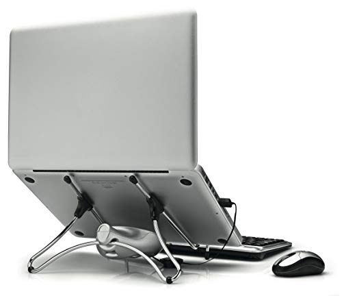 Octoo Uptable - Soporte para portátil con ventilador, color cromado