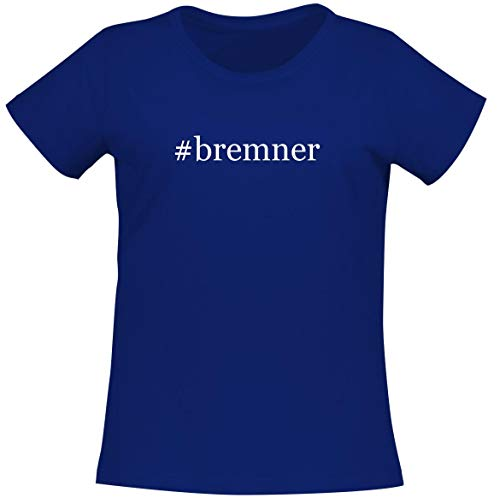 #bremner - Women's Soft Comfortable Hashtag Short Sleeve T-Shirt, Blue, XX-Large