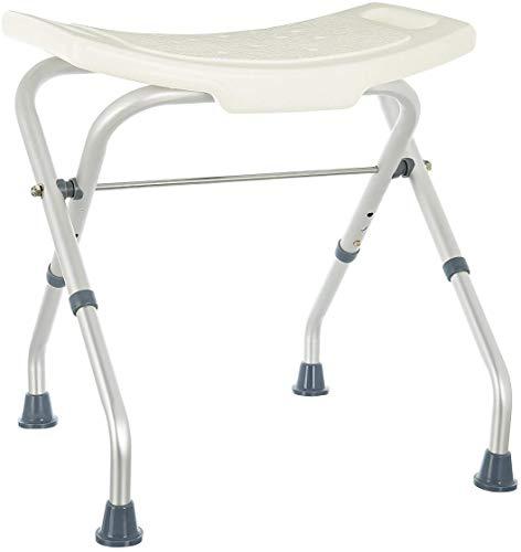 Rehab – Asiento de ducha plegable – Asiento de bañera, silla regulable en altura – Soporte para personas mayores