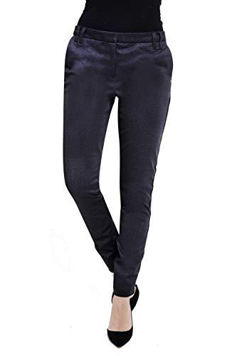 Zhrill Damen Stoffhose Anzugshose Vintage Slim Fit Sophia, Farbe:N9236 - Grey, Größe:W32