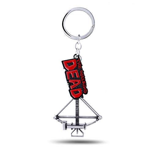 YUNMENG Schlüsselbund Schlüsselring Die Wandelnde Tote Schlüsselkette Daryl Armbrust Schlüsselringe Für Geschenk Chaveiro Auto Schlüsselbund Schmuck Spiel Schlüsselhalter Souvenir