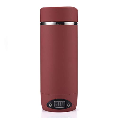 KOUJING Mini eléctrica taza de agua caliente viaje portátil inteligente calefacción caldera