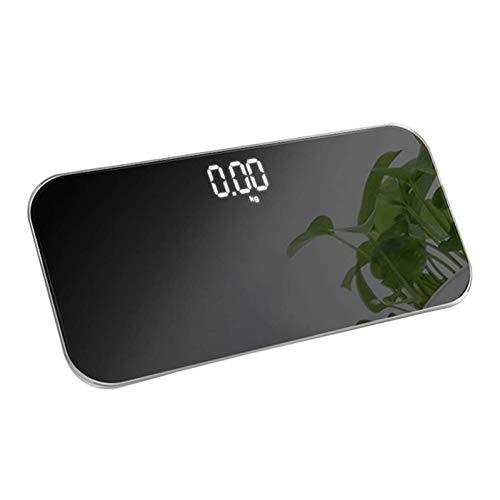 Zidao Scale, Tragbare Elektronische Waagen Wiederaufladbare USB Körperwaagen Mini Waagen Elektronische Haushaltswaagen Können Als Spiegel Verwendet Werden,Schwarz