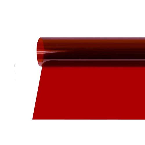 Selens 40x50cm Farbfolie Farbfilter Folie Professionel Transparente Farbkorrektur Beleuchtung Farbfolien für Foto Studio Strobe Blitz Flash Dunkelrot