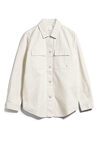 ARMEDANGELS PRISHAA UNDYED - Damen Overshirt aus Bio-Baumwoll-Leinen Mix S Undyed Jacken Overshirt Relaxed Fit