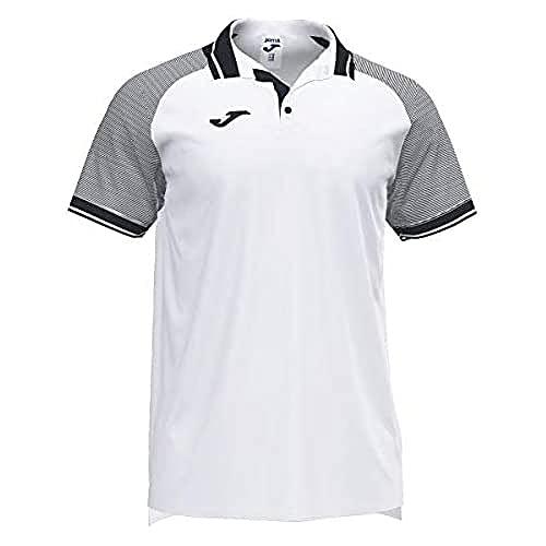 Joma Essential II Polos Caballero, Hombre, Blanco Negro, XL
