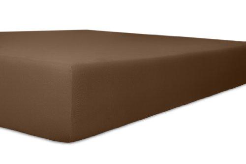 Kneer hoeslaken, katoenmengweefsel, mokka, 120 cm x 200 cm