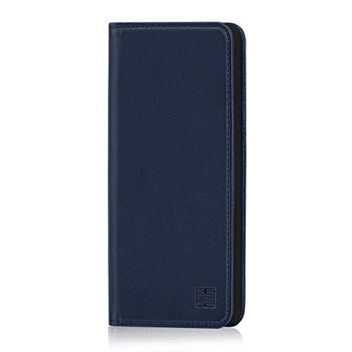 32nd Klassische Series - Lederhülle Hülle Cover für Samsung Galaxy A9 (2018), Echtleder Hülle Entwurf gemacht Mit Kartensteckplatz, Magnetisch & Standfuß - Marineblau