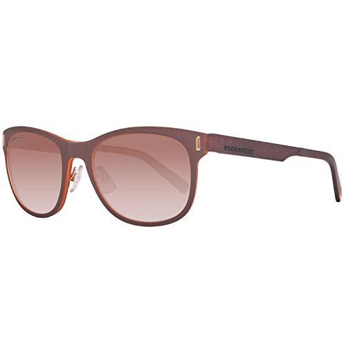 DSquared DQ0221 5550F Dsquared2 Sonnenbrille Dq0221 50F 55 Wayfarer Sonnenbrille 53, Braun