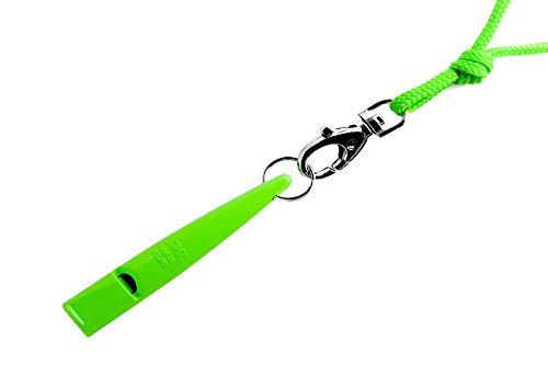 ACME Hundepfeife No. 211,5 + GRATIS Pfeifenband | Original aus England | Ideal für die Hundeausbildung | Robustes Material | Genormte Frequenz | Laut und weitreichend (DG Green)