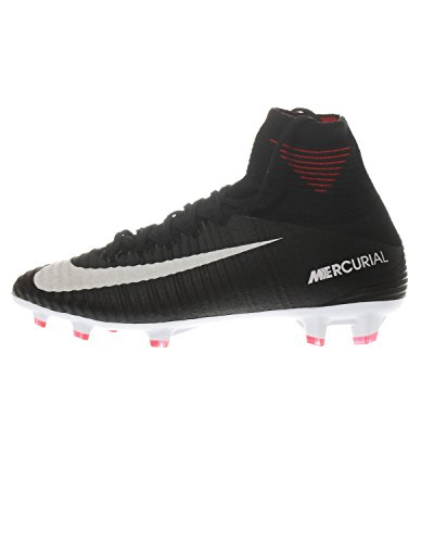 Nike Junior Mercurial Superfly V DF FG Scarpe de Calcio 921526 Soccer Cleats (UK 4.5 us 5Y EU 37.5, Black White Dark Grey 002)