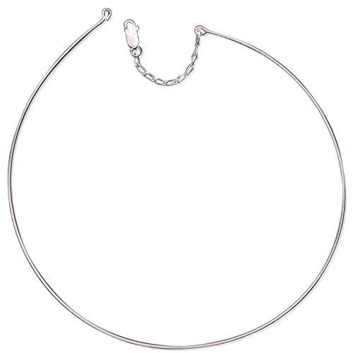 Collana in argento 925/1000, rigida, da donna
