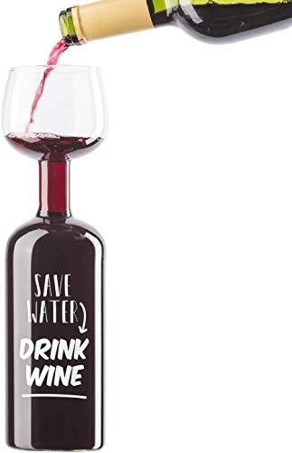 Dimono XXL Weinglas das ultimative Weinflaschen Glas Rotweinglas Weißweinglas 750 ml