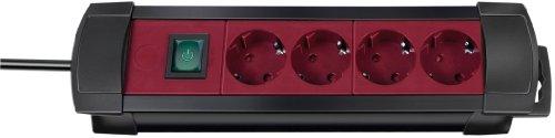 Preisvergleich Produktbild Brennenstuhl Premium-Line Steckdosenleiste 4-Fach 1.8 m,  schwarz / Bordeaux,  H05VV-F 3G1.5 1155170014