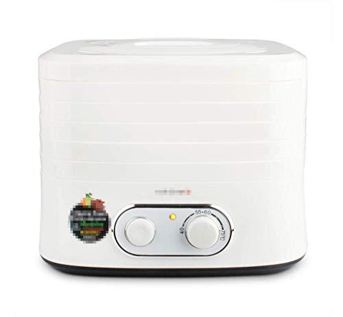 Levensmiddelen-bewaarmachine, dehydrator voor levensmiddelen, vierkant, wit, geschikt voor huishoudelijk gebruik, droog voedsel, snack voor huisdieren, machine voor gedroogde vruchten, 5 tabletten gebruikt