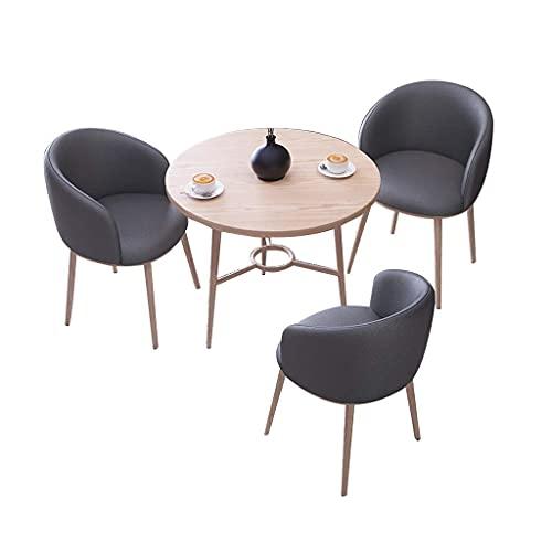 Krzesło kombinowane Kuchnia Krzesła do jadalni, stoły negocjacyjne i krzesła Kombinowane biuro sprzedaży Recepcja Biuro Skórzany zestaw Chiar 4-częściowy (kolor: ciemnoszary)