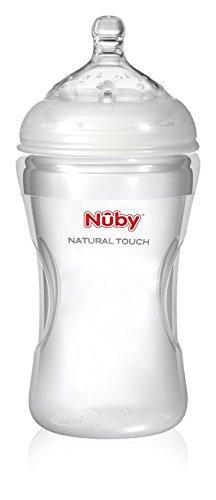 Biberon en silicone sans bisphenol A Nuby 300 ML +3 mois