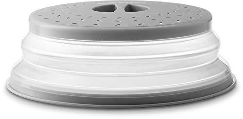 Faltbare Mikrowellen-Abdeckhaube, flache Schüssel und Teller-Deckel verhindern Lebensmittelspritzer, verlängert hält den Ofen sauber, perforiert für Belüftung – ohne BPA-frei
