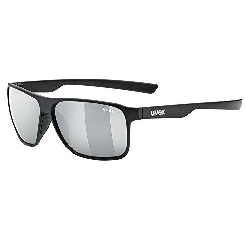 uvex Unisex– Erwachsene, lgl 33 pola Sonnenbrille, black mat/silver, one size