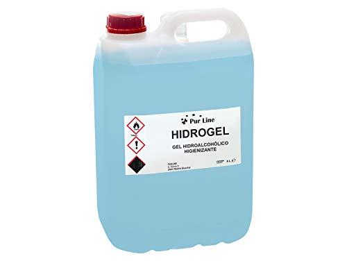 Garrafa 5L gel hidroalcohólico higienizante PURLINE HIDROGEL 5L