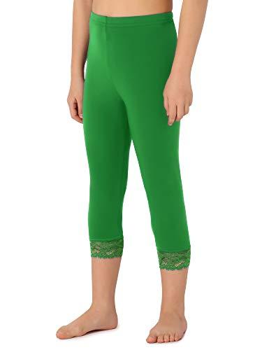 Merry Style Leggings 3/4 Bambina e Ragazza MS10-293(Verde,140 cm)