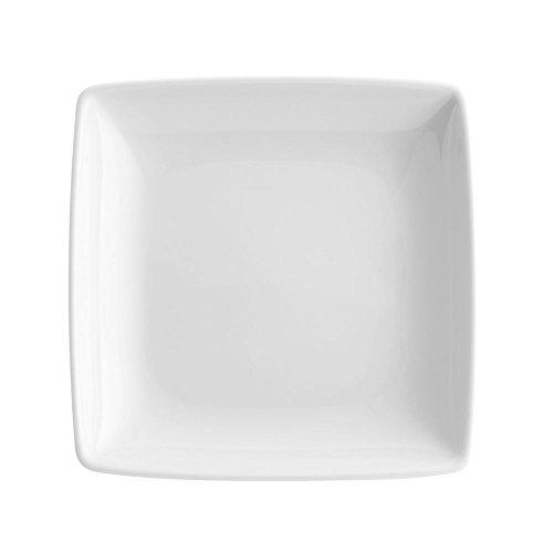 VISTA ALEGRE Carré White Plato Cuadrado 13, Porcelana, Blan