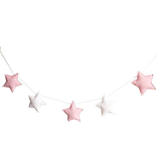 Adorno para colgar guirnalda de estrellas – para habitación infantil o juvenil,