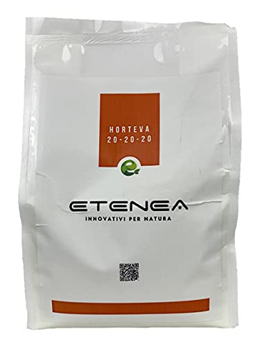 Horteva 20-20-20 NPK Concime fogliare in polvere per uso Agricolo per Orto e Giardino, uso professionale (5 Kg)
