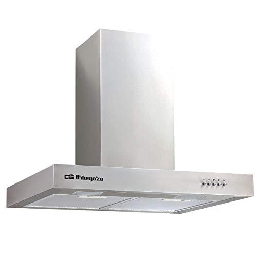 Orbegozo DS 56170 B IN – Campana extractora, 70 cm, chimenea ajustable, extracción 647 m3/h, 3 niveles de potencia, 190 W
