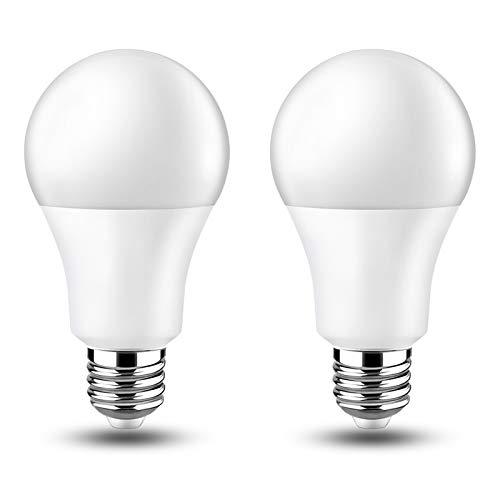 Lampadina E27 LED 12V Luce Calda 3000K, 15W Equivalente Incandescenza 100W, AC/DC 12V 24V, Lampadine LED E27 12 Volt 24 Volt per Fotovoltaico Solare/Camper/Barca/Garage, set di 2
