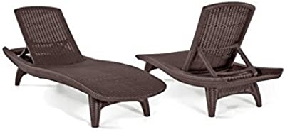 Amazon.com : Sun Loungers Outdoor -Lounge Chairs for Pool Area ...
