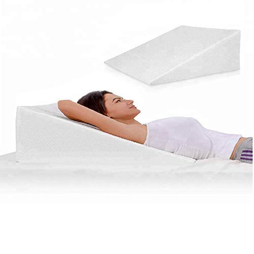 Goldstar Bed Wedge Pillow for Back Pain Snoring Gerd Acid Reflux Heartburn Indigestion Respiratory Problems. Ideal Sleeping Reading Rest Elevation Orthopedic Memory Foam Antibacterial Hypo Allergenic