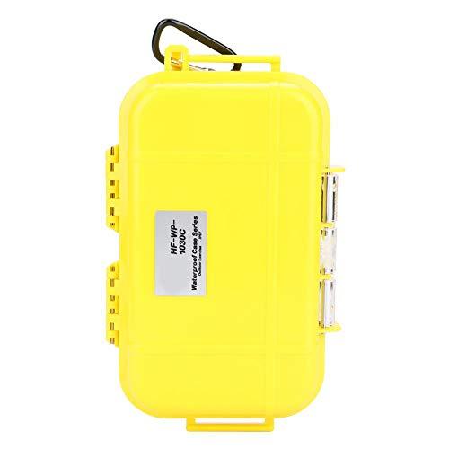 Alomejor Aufbewahrungskoffer Wasserdicht Stoßfester luftdichter Carry Box Container für Outdoor Survival(Gelb)