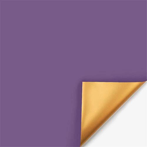 ZXL Metalen inpakpapier, dubbelzijdig waterdichte verpakking aan twee zijden Kunstmatige bloemdecoratiematerialen Dubbelzijdige verpakking (kleur: A, afmeting: 58 * 58 CM)