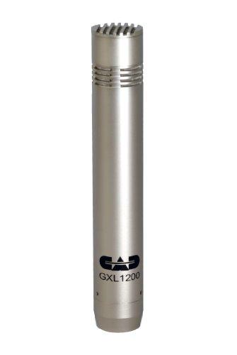 Micrófono de condensador de diafragma pequeño CAD Audio GXL1200 Voces de estudio y overhead de batería para grabaciones profesionales (XLR, alimentación fantasma de 24V/48V, 30 Hz - 20 KHz)