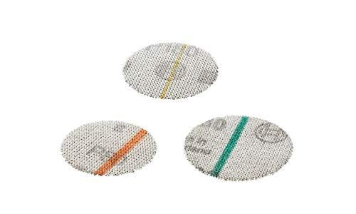 Bosch 18 tlg. Schleifmittel Set (für Holz und Farbe, Ø 40 mm, Körnung K80/K180/K320, Zubehör Exzenterschleifer)
