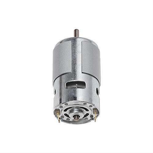 Qingn-Motor DC 12V-24V 3000-12000RPM Motor de Engranaje de torsión Grande, para máquina de Grabado Herramienta de Torno, Soporte de Motor/Motor, Fuerte y Robusto (Speed(RPM) : 895 Low Speed)