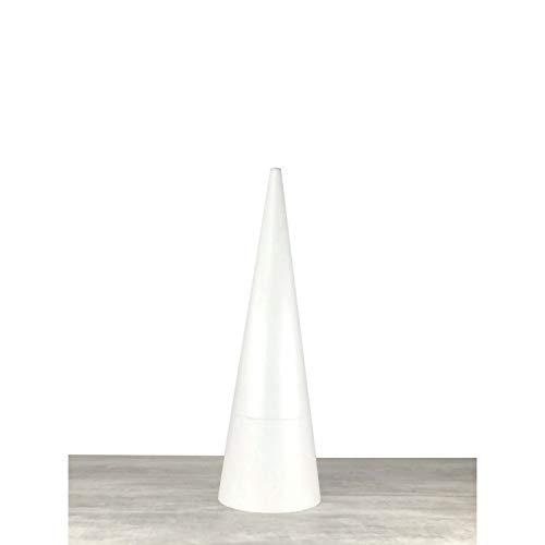 Lealoo Grand Cône XL 105 cm, Présentoir géant polystyrène Pro Haute densité, 25 kg/ m3, Diamètre de Base : 32 cm