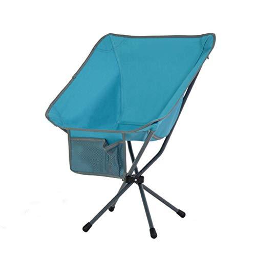 GHH Chaise De Camping Ultra Léger Portable Pliant Sac à Dos Mini Dossier avec Sac De Rangement Pêche Lune Directeur Directeur Esquissant La Chaise,Green